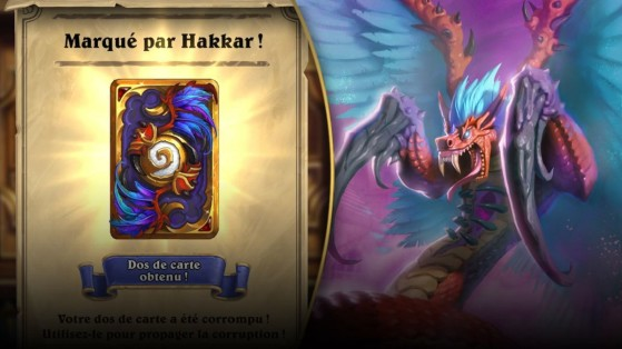 Hearthstone : event Malédiction d'Hakkar, dos de carte (Curse of Hakkar)