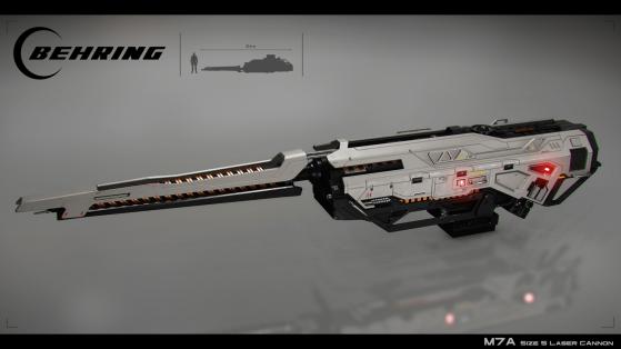 Le M7A, un canon laser de taille 5 de la marque Behring - Star Citizen