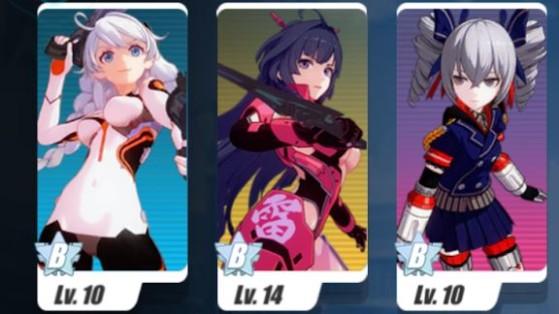 Mis à part dans les niveaux comportant des boss, l'équipe polyvalente doit être votre fer de lance en early game. - Honkai Impact 3rd