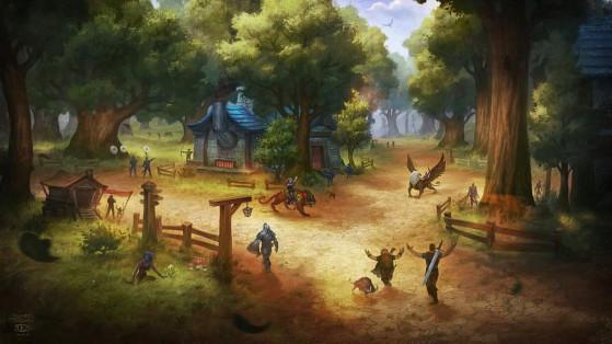 Comté-de-l'Or, ce village qui compte une forge, une auberge, une maisonnette mais quand même 15.000 habitants. - World of Warcraft