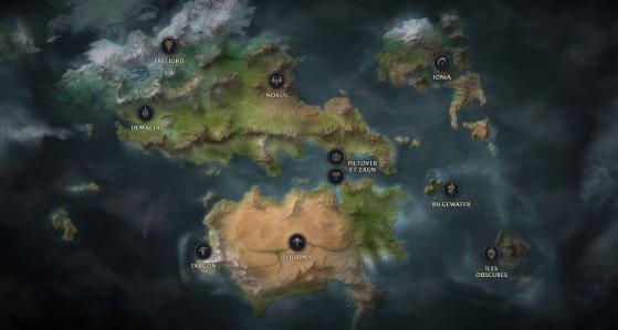 La carte de Runeterra - League of Legends