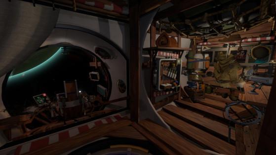 Votre vaisseau, fait de vieilles pièces et de planches de bois, sera votre nouvelle maison pendant cette excursion. - Millenium