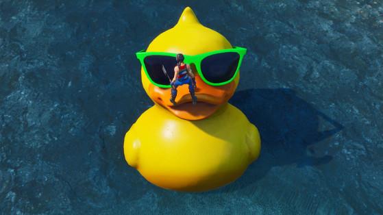 Fortnite : visiter un parasol géant et un énorme canard en plastique