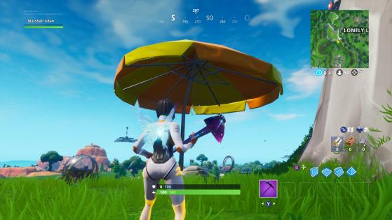 L'un des parasols - Fortnite : Battle royale