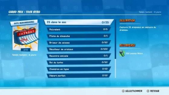 Crash Team Racing : défis Grand Prix Tour Nitro semaine 3