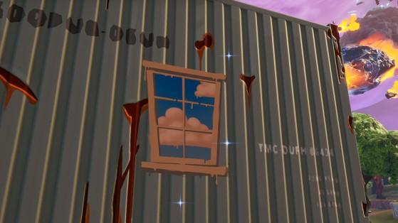 Fortnite : fouiller des coffres dans des containers avec des fenêtres