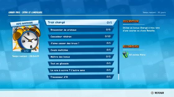 Crash Team Racing : Défis Quotidiens du Grand Prix 3 - Spyro et Compagnie