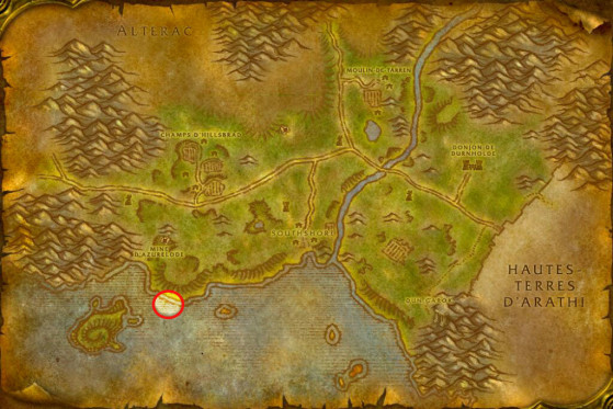 Localisation du Tome moisi - WoW : Classic