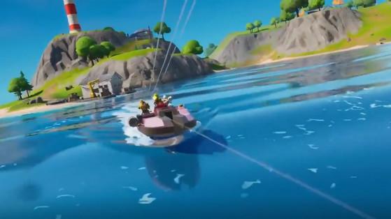 Fortnite : bateau, hors-bord, chapitre 2 saison 1