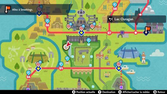 Emplacement sur la carte - Pokémon Épée et Bouclier