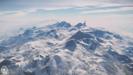 Montagnes de Microtech - Star Citizen