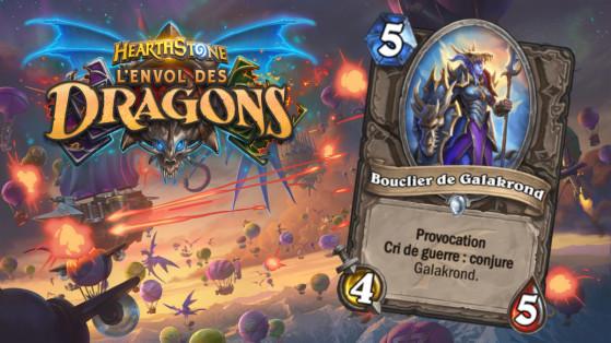 Hearthstone Envol des Dragons : nouveau serviteur commun Neutre Bouclier de Galakrond