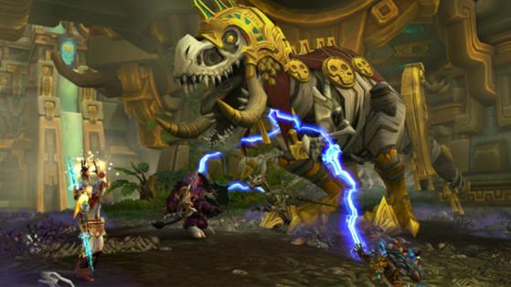 Rezan, l'un des boss d'Atal'Dazar, une instance de Battle for Azeroth - World of Warcraft