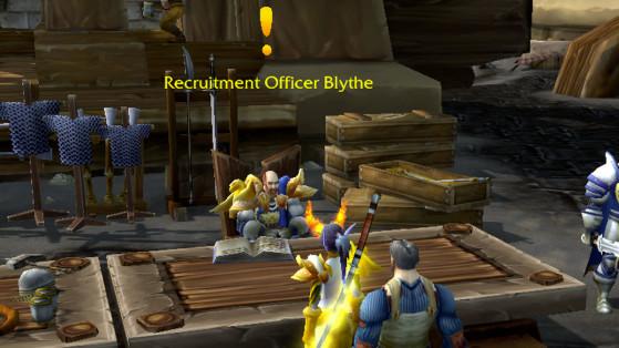 Une quête disponible : le point d'exclamation jaune - World of Warcraft