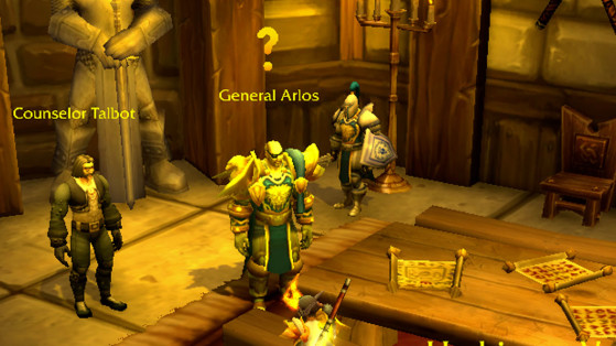 Une quête à rendre : le point d'interrogation jaune - World of Warcraft