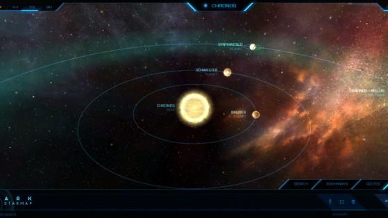 Chronos et ses astres dans la Starmap - Star Citizen