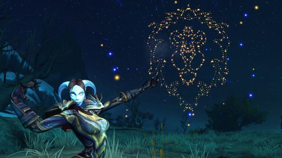 Le Feu d'artifice Fierté du lion, utilisable sur un joueur ennemi mort - World of Warcraft