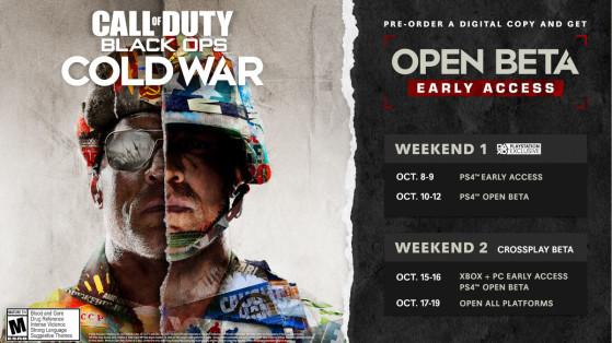 Call of Duty Cold War : drop de clé beta early access à durée limitée