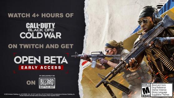 Drop de clé PC pour la beta de Black Ops Cold War sur Twitch !
