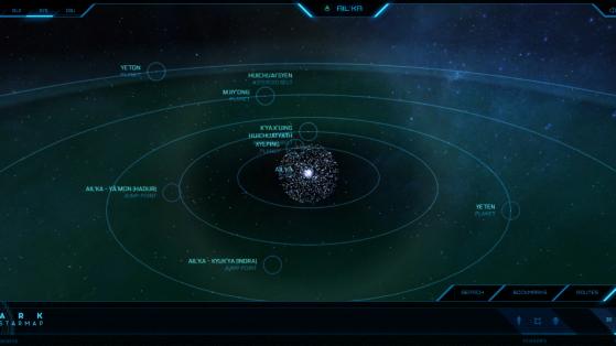 Ail'ka et ses astres dans la Starmap - Star Citizen