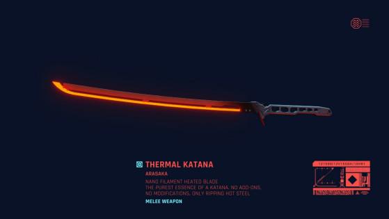 Armes Cyberpunk 2077 : Katanas, liste et position, guide complet