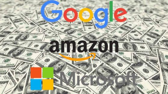 Microsoft, Google et Amazon viseraient le rachat de plusieurs gros studios