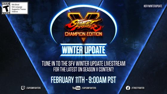 Street Fighter V : Plus de détails  sur le stream des annonces de Capcom prévu le 11 février
