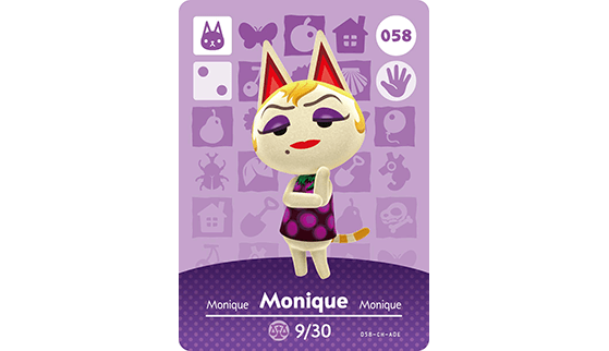 Carte Amiibo de Monique - Animal Crossing New Horizons