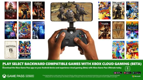 Xbox Cloud : arrivée de jeux rétrocompatibles sur smartphones et tablettes