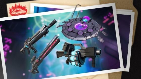 Fortnite saison 7 : nouvelles armes aliens et IO, stats
