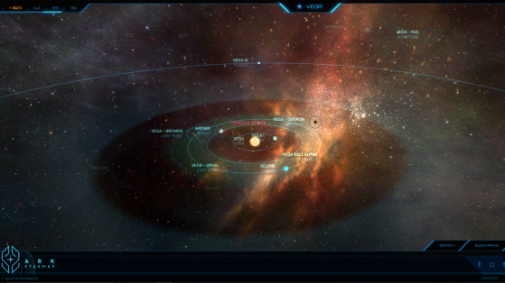 Vega et ses astres dans la Starmap - Star Citizen