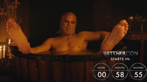 Geralt de Riv dans la catégorie Hot Tub de Twitch pour la WitcherCon