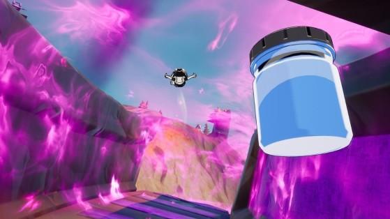 Fortnite : débris au sud de Dirty Docks, trouver les bocaux de Bleu cristallin