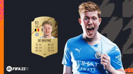 FIFA 22 - Les notes de Manchester City avec De Bruyne à 91 et Mahrez seulement à 86 sur FUT