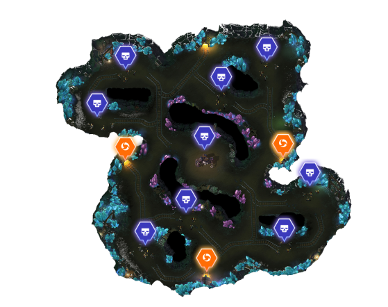 Carte des mines - Heroes of the Storm