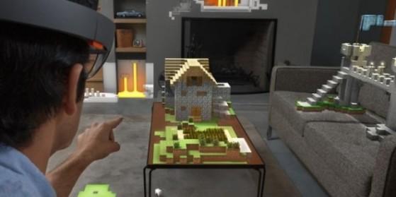 Le casque Hololens et Minecraft