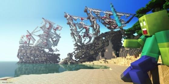 Minecraft Hardcore : Pirates des Cuboides