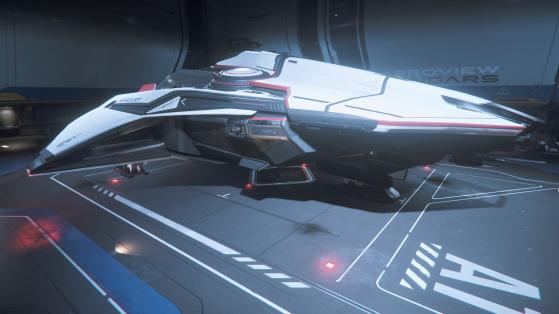Mercury Star Runner dans un hangar Aeroview - Star Citizen