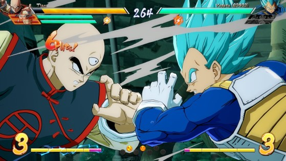 Les 7 boules s'affichent en bas de l'écran - Dragon Ball FighterZ