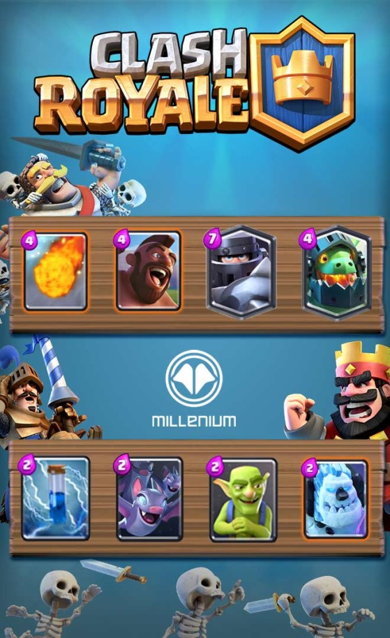 Clash Royale Les 2 Decks Top Arène 10 Millenium