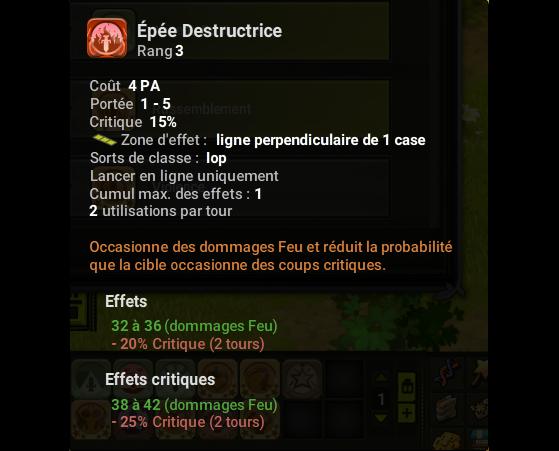 Epée Destructrice - Dofus