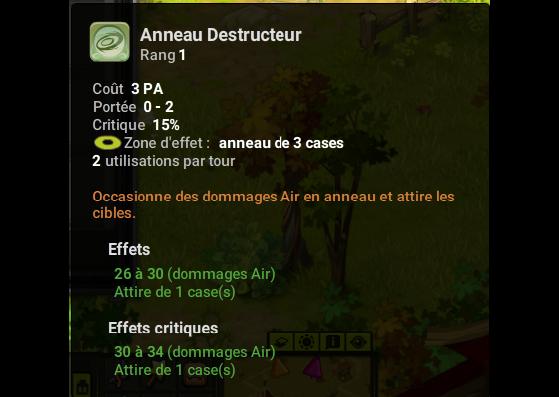 Anneau Destructeur - Dofus