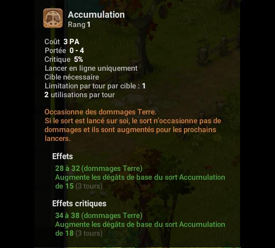 Accumulation - Dofus