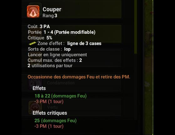 Couper - Dofus