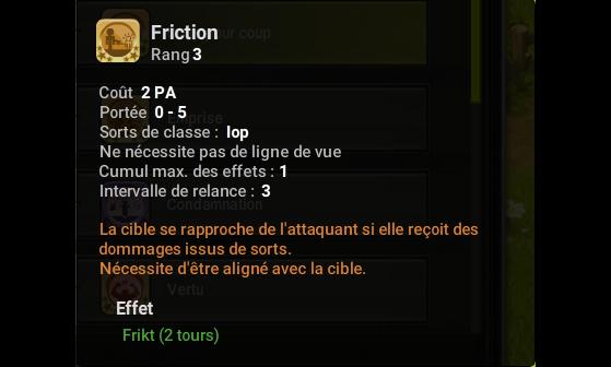 Friction - Dofus