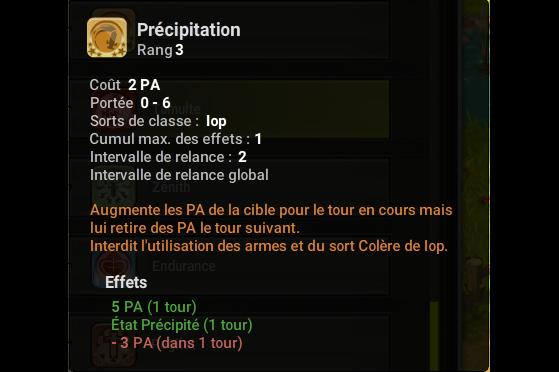 Précipitation - Dofus
