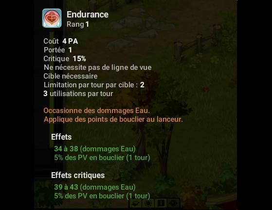 Endurance - Dofus