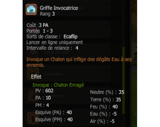 Griffe Invocatrice - Dofus
