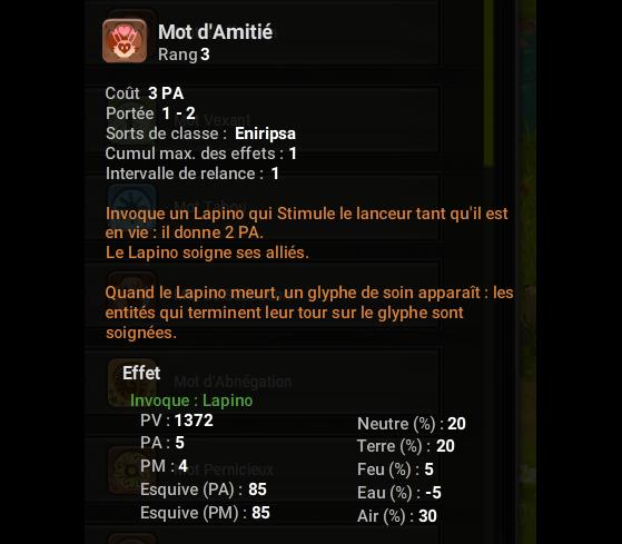 Mot d'Amitié - Dofus