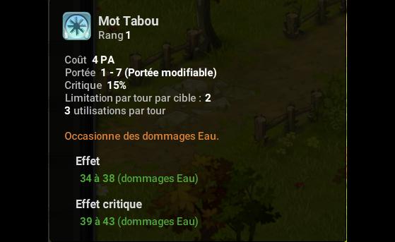 Mot Tabou - Dofus